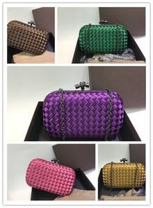 Elegante Damen Abendhandtasche mit Kettenquer Knit Weave Schultertasche Handtaschen, Geldbeutel-Mappen für Hochzeit 005