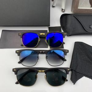 RayBan Ferrari  RB3016 Alta qualidade marca Designer Fashion Big frame óculos de sol para homens e mulheres esporte Vintage óculos de sol com caixa e caso