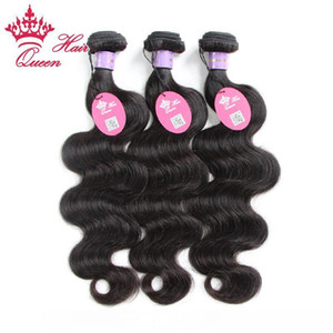 A Queen Hair Products Malaysian Virgin Weaves 5pcs Bundles 100 %Human Body Wave Wavy Human Hair 12 &Quot ;-28 &Quot ;