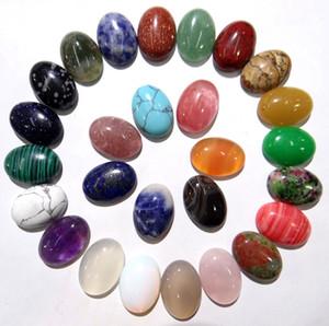 Naturstein Quarz Kristall Tigerauge Unakite Opal Oval Cabochon JewelryClothes Zubehör Schmuckherstellung 13x18mm Perlen 30St