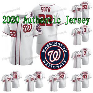 Washington 2020 authentique Stephen Strasburg Nationals Jersey Anthony Rendon Juan Soto Max Scherzer Kendrick Howie Gerardo Parra Maillots