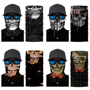 3D Halloween Party Skull Masks Magic Clown Bicycle Ski Sports Half Face Mask Skull Scarf Multi Use Neck Sunscreen Mouth Face Ma #444#151
