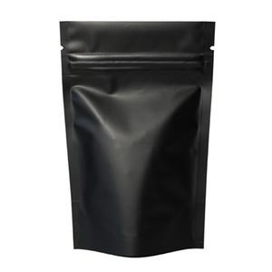 Blanc Brillant Mat stand up croûte Mylar qualité alimentaire Zip Lock Chaleur Auto-adhésive Sac