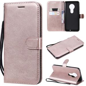 Для Motorola Moto G7 7 плюс сотовый телефон чехлы Flip Cover Stand Stand Pure Color PU кожаные мобильные сумки Coque Fundas