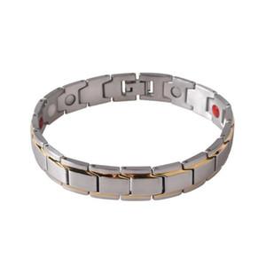 GENBOLI 캐주얼 고유 남성 티타늄 스틸 건강 에너지 팔찌 단색 자기 탄성 팔찌 팔찌 보석