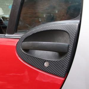 2 pcs Fibra De Carbono Impresso Tigelas de Porta de Carro Adesivos Decalques para Smart fortwo 2009 2010 2011 2012 2013 2014 Styling Acessórios