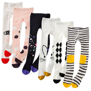 9 estilos primavera meninas collants gato dos desenhos animados bebê meia-calça de algodão de malha de algodão bonito crianças meia do bebê meia-calça apertada m418