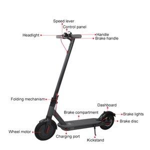 Europa Sonderangebot Elektroroller 250w 36v 8.5inch Max 30 km / h M365 mit Bluetooth APPS intelligente faltbare Roller