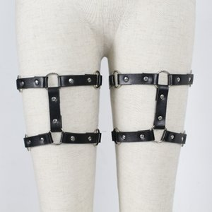 Leg Harness Leather Garter Bondage Thigh Belts For Female Fashion Punk Gothic Stocking Suspender Women Belt Adjustable Straps