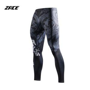 ZRCE китайский стиль сжатия обтягивающие леггинсы 3D принты бегуны фитнес Мужские брюки хип-хоп уличная тренировка Мужские брюки MX200323