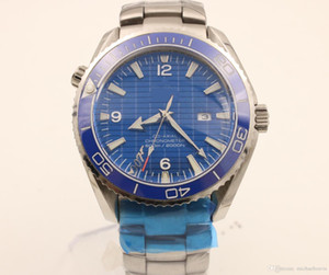 heißer Verkauf Tauch Chronograph 007 blau Herrenuhr Professional Planet Ocean Co-Axial Dive Armbanduhr Stahlverschluss Herrenuhren