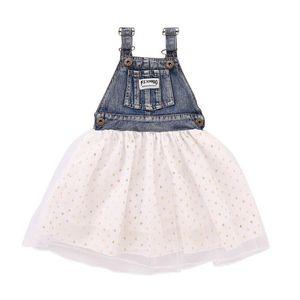 Летние девушки платье Демин Тута Юбка Детской мода девушка принцесса платье Дети партия девочки Одежда