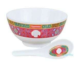 Atacado-Sup Tigela Set cerâmica de tamanho moderado Jubilation Louça Eco-friendly reutilizável Artefato Anti Scald Louça 35frD1