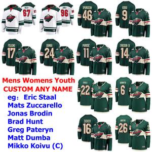 Minnesota Wild Jerseys Womens Kids Eric Staal Jersey Mats Zuccarello Jonas Brodin Brad Hunt Greg Pateryn Hockey Jerseys Custom Stitched