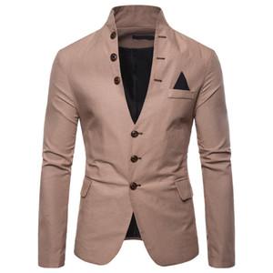Il nuovo modo del vestito del progettista degli uomini di lusso multi-tasto del progettista decorativo Mens Giacca casual stand-collare degli uomini del vestito Euro Codice M-2XL