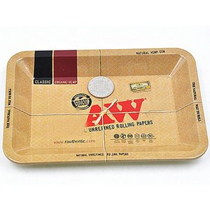 Metal Raw Tray Tin Plate Case 5 SIZE Machine Tobacco Rolling Tray Handroller Smoking Storage Case Xmas Gifts