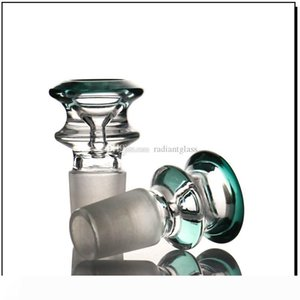 Glass Bowl Male 14mm Double Layers Colorful 18mm bong bowl accessory cone smoking pipes 2019 latest release Smok water pipe bowl