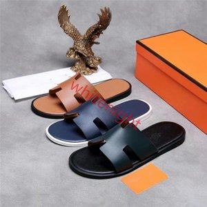 Hermes slippers moda traspirante tendenza degli uomini con estate nuove esplosioni hococal slippersof pelle color