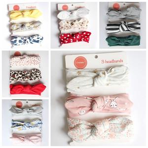 3pcs set Baby Cotton Bow Headband Baby Boys Girls Lovely Bow Turban Hair Band Soft Headwear HHA944