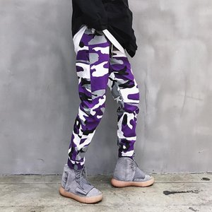 2020 Stylish Men Pants Camo Print Cotton Casual Pants Male Hiphop Streetwear Camouflage Cargo Mens Joggers Harem Pants Men