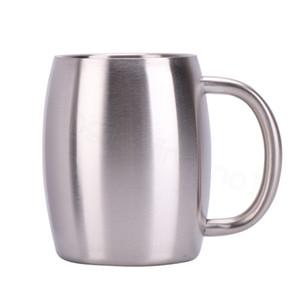Vuoto tazza di caffè in acciaio inossidabile 14oz doppia parete sigillato tazze Insulated vino Bicchiere Boccale di birra secchio con Splash Resistente FFA3351 Coperchio