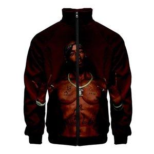 Рукав кардиган Мужские кофты мода Мужская одежда хип-хоп 2Pac 3D Мужские толстовки Весна рэпер роскошные длинные