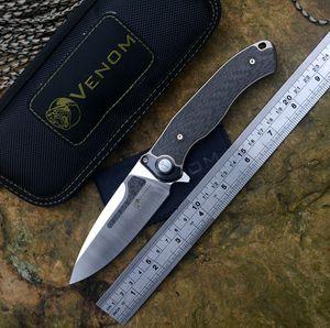 VENOM Kevin John Messer BONE DOCTOR M390 Blade-Titan + CF Griff Flipper Timascas Folding Messer im Freien Jagd Überleben Taschenmesser