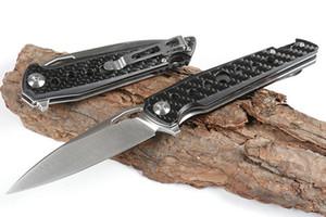 Tezgah Yedi Göz Katlanır Bıçak D2 Çelik Karbon Fiber Kolu Rulman Topu EDC Pocket Bıçak Kamp Yürüyüş Survival Bıçak BM940 BM535 ZT 0456