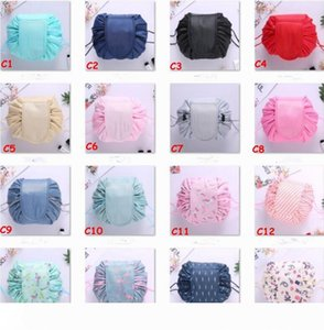Women Drawstring Cosmetic Bag Unicorn Flamingo Travel Makeup Bag Organizer Make Up Case Storage Pouch Toiletry Beauty Kit Box Wash Bag