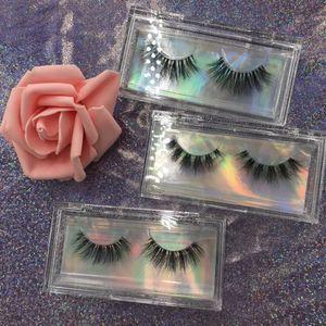 Mink Eyelashes Clear Band Eye Lashes Crisscross Transparent Band False Eyelashes Handmade Natural 5D Lashes for Makeup