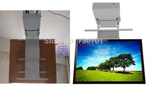 Motorizado elétrico escondido flip down teto falso tv lcd suporte de montagem cabide titular controle remoto função 110 v-250 v