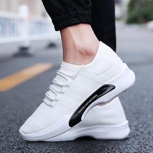 Zapatos GYKZ Marca negro de la manera de los hombres zapatillas de deporte respirable del verano de los zapatos ocasionales de tenis masculino Formadores Zapatillas Superstar