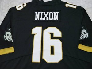 herhangi bir ad veya numara forması özel Kadınlar UCF Knights Tre Nixon # 16 BAYAN gerçek Tam nakış Kolej futbol Jersey Boyut S-4XL veya
