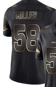 Мужской Денвер 58 30 Джерси рубашка Vapor Limited Black Golden Джерси Американского футбол Джерси 01