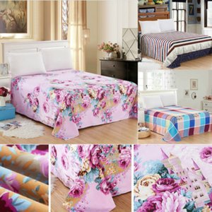 US STOCK Bed Fitted Sheet Cover Floral Printed Soft Elastic Sheets Bed Sheet