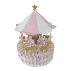 8 pezzi Unico Carousel Gift Box Bomboniere Party Baby Shower Souvenir Candy Box Compleanno Bomboniere e regali Decorazioni per feste