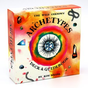 78pcs The Wild Unknown Archetypes Deck Guidebook By Kim Krans Circular Oracle Tarot Decide Into Four Suits Tarot Card