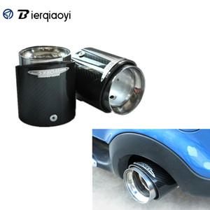 Für Mini Cooper One JCW S F55 F56 Car Styling Zubehör F56 Carbon-Faser-Edelstahl-Auspuffrohre Endrohre Head Cover
