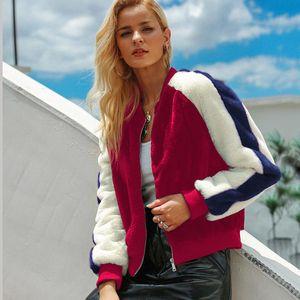 Wolle-Jacken-Mantel-Dame Long Sleeve Outwear Faux Lamb Wool Short Jacket Coat C5018 der 2019 Herbst-Winter-Frauen