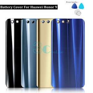 For Huawei Honor 9 Back Battery Cover Glass + PC Plastic Honor9 Housing Door With 3M Glue Replacement Repair Spare Parts