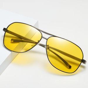 Retro Men Polarized Sunglasses Fashion Aluminum Magnesium Polarizing Sun Glasses HD Night Vision Glasses Eyewear 201981