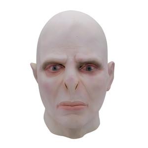 2019 New Harry Potter Senhor Voldemort Masque chefe Máscaras De Látex Cosplay Minecraft Terrorizer Máscara Assustador