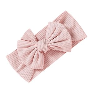 Newborn Headbands For Baby Girls Princess Solid Bowknot Headwrap Infant Babies Turban Hair Accessories