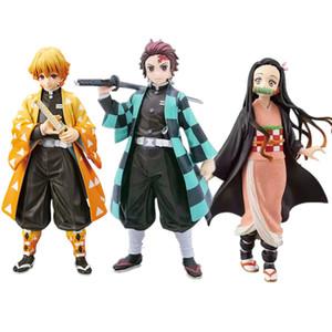 Demon Slayer Kimetsu kein Yaiba Kamado Tanjirou Nezuko Zenitsu Action-Figur Spielzeug Anime Sammler Brinquedos Kimetsu kein Yaiba