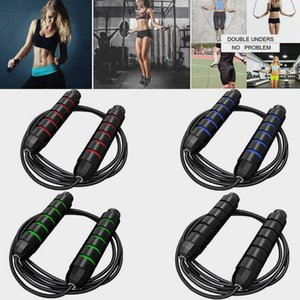 US STOCK Exercise Equipment Adjustable Boxing Skipping Sport Jump Rope Bearing Skip Rope Cord Speed Fitness Aerobic Jumping FY7057