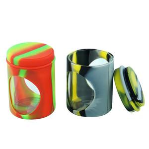 """2.7"""" antiadhésives silicone Jars conteneurs DHL expédition Pot de fleurs Dabs silicone cire Contenants cire silicone Boîtes et huile Conteneur"""