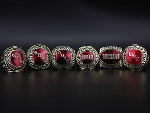 1954-1957-1961-1968-1970-1977 Ohio State Buckeyes College solide Championnat Anneaux en alliage Set