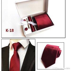 Trendy men's fashion tie gift box 6 piece suit group tie business dress wedding tie