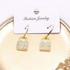 New Style With European And American Characteristics With Diamond Shining Rectangular Tassel Earrings Earrings Creative Jewelry