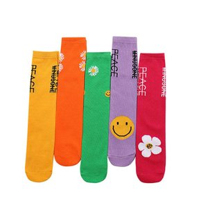 New arrived 2020 flower girls socks fashion casual student knit knee high socks cotton Athletic long kids socks children sock B1157
